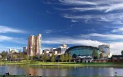 Australia Adelaide City Skyline