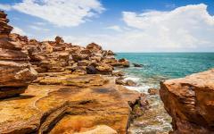 Australia Broome Rocks Ocean