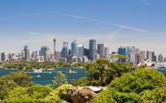 australia sydney panoramic view of the city