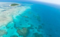 australia aerial view of the great barrier reef