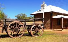 an old telegraph station in alice springs