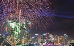 Fireworks on New Years Eve in Sydney.