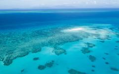 aerial view of the geat barrier reef