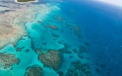 Australia Great Barrier Reef from the air