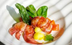 Australia lobster dish with spinach