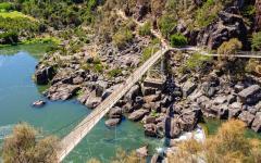 the alexandra suspension bridge at cataract gorge in tasmania