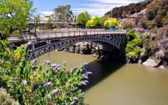 a bridge over cataract gorge in launceston
