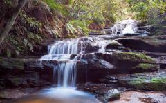 leura waterfalls in the blue mountains new south wales