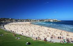 australia sydney bondi beach blue ocean and sky
