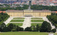 a panoramic view of schoenbrunn palace in vienna