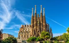 La Sagrada Familia Basilica in Barcelona, Spain.