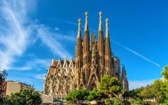 spain barcelona la sagrada familia by gaudi