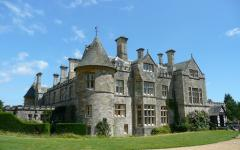 Beaulieu Palace House. Also location of National Motor Museum with collection of 250 vintage cars.