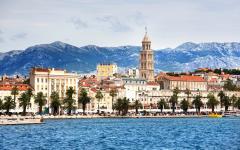 The waterfront of Split city in Croatia.