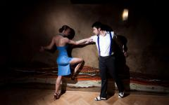 Dancing the tango in Argentina.