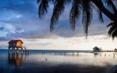 Ambergris house on the ocean in Belize