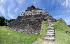 The ancient Mayan archeological site of Xunantunich.