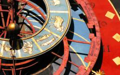 Zytglogge zodiacal clock in Bern, Switzerland.