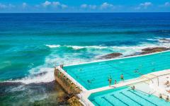 the swimming pools at bondi beach