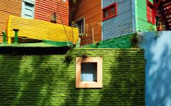 colorful houses in the bocca district of buenos aires