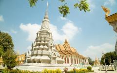 The Silver Pagoda at the Royal Palace in Phnom Penh, Cambodia.