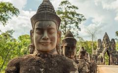 Ancient ruins at Angkor Wat.