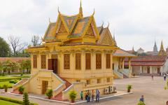 Royal Palace complex in Cambodia.