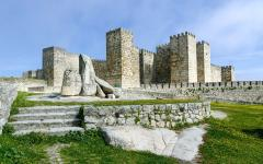 Castle of Trujillo. A medieval village in the province of Cáceres