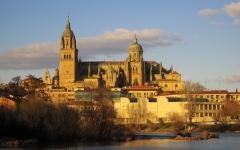 spain salamanca cathedral on the skyline