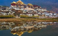 Songzanlin Monastery, the largest Buddhist monastery in Yunnan