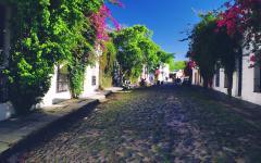 A street in Colonia del Sacramento, Uruguay.