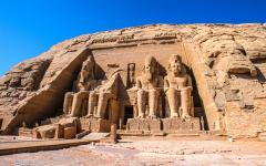 The Great Temple of Ramesses II at Abu Simbel.