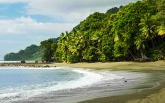 Beach in Corcovado National Park.