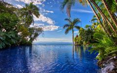 The infinity pool at Villa Caletas. Photo: Courtesy Villa Caletas