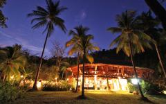 An outdoor view of Ylang Ylang Beach Resort's Restaurant. Photo: Courtesy of Ylang Ylang Beach Resort