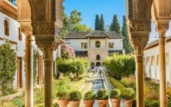 spain andalusia grenada alhambra palacio courtyard