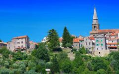 Grožnjan village in Croatia.
