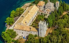Mljet National Park from the air, Croatia.