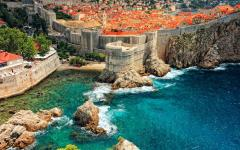 Amazing Dubrovnik old town and city walls, view from the St. Lawrence Fortress