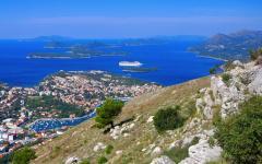 Along the Adriatic coastline in Croatia.