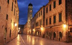 Old town at night, Dubrovnik