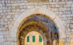 Gates to the walled city of Dubrovnik, Croatia.