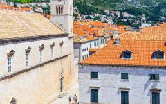 A view of Stradun Street in Dubrovnik.