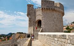 Minceta tower in Dubrovnik, Croatia.