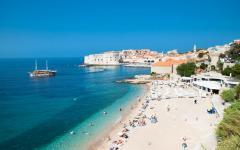 A beach in Dubrovnik, Croatia.