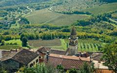 The village of Motovun in central Istria, Croatia.