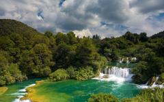 Cascading waterfalls, Krka National Park