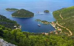 Planjak is an island in Korčula, Croatia