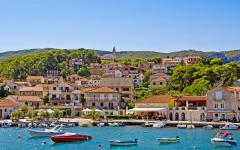 Jelsa town is a small settlement on the island of Hvar, Croatia.