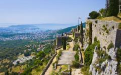 View of the old fort in Klis